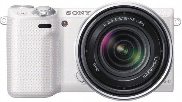 Sony Alpha NEX-5R Kit 18-55 mm (NEX-5RK) weiß