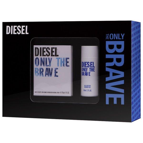 Pieper: Diesel only the Brave Geschenkset (EDT 35 ml + DG 50 ml) + Only the Brave Tattoo Gürtel für 25,87