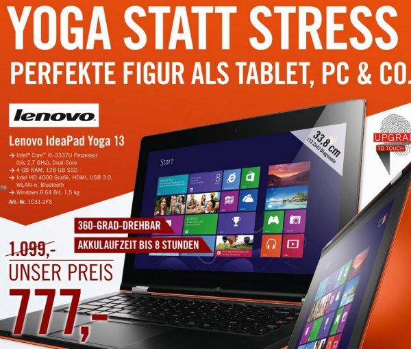 [lokal, Köln] Lenovo Yoga 13 i5-3337u, 4GB, 128GB SSD, Win 8 [Cyberport]