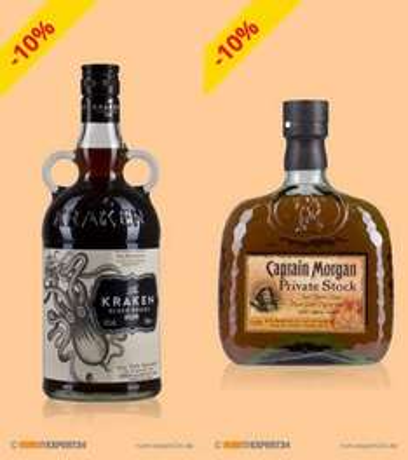 Spiced Rums: Kraken + Captain Morgan Private Stock