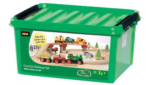 Brio 33188 - Großes Country Bahn-Set mit 50 Teilen versandkostenfrei für 44,99€