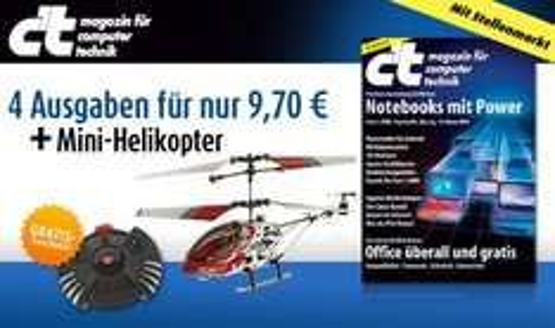 4x c't + Mini Helikopter