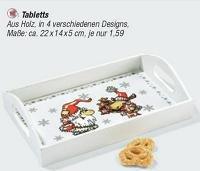 Weihnachtliches Tablett für 1,59€