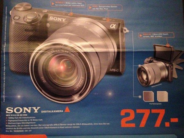 (Lokal Saturn Hürth) Sony NEX 5 R + 18-55 für 277,- Euro