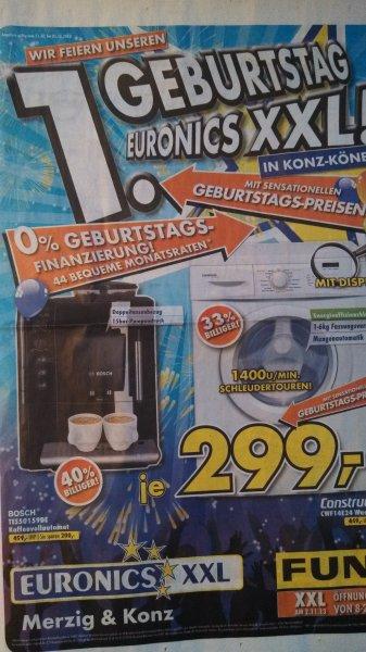 Bosch TES50159DE Kafeevollautomat und Constructa CWF14E24 Waschmaschine