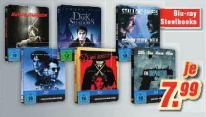 Blu-ray - Steelbook (Blade Runner,Dark Shadows,Demolition Man,Heat,V for Vendetta,The Departed) für je €7,99 [@Medimax Kiel]