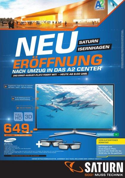 Samsung UE55 F 6170 bei Saturn Neueröffnung