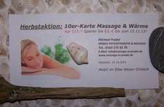Herbstaktion: 10er-Karte Massage & Wärme