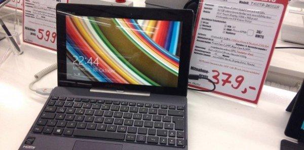 ASUS T100 Tablet( Ultrabook ) / Intel Bay Trail Quad Core / 32GB /  Windows 8.1  für 379 €  / Bereits bei Media Markt zu bekommen!