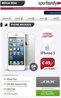 iPhone 5 64GB+AllNet Flat