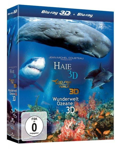 Amazon.de: Jean-Michel Cousteau - 3D-Box (Delfine und Wale, Haie, Weltwunder der Ozeane) für nur 4,49€!!!
