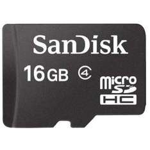 SanDisk microSDHC 16GB Speicherkarte
