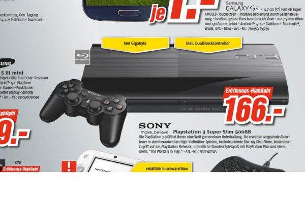 [Medimax Gera] PS3 Super slim 500 GB NUR 166,00
