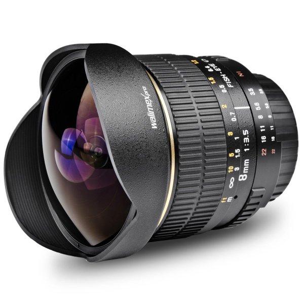 Walimex Pro 8 mm 1:3,5 Fish-Eye Objektiv (Sony A-Mount) für ~ 237 € @Amazon.fr