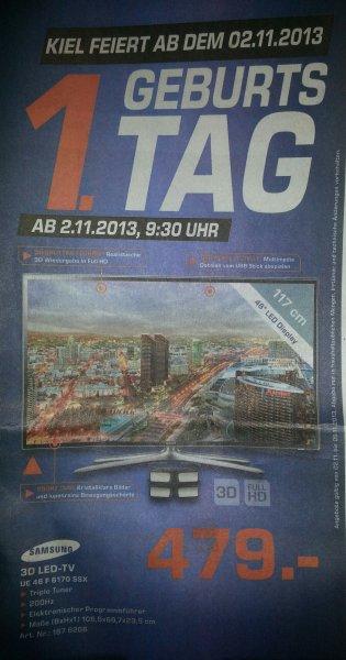 Samsung 3D LED-TV UE 46 F 6170 SSX  für 479,- bei Saturn in Kiel [Lokal]