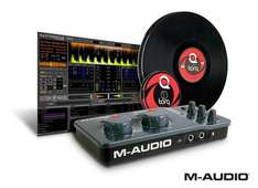 M-Audio Torq Conectiv 4 x 4 USB DJ Audio Scratch System Vinyl/CD Pack