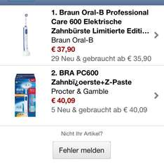 Oral B Professional Clean Care 600