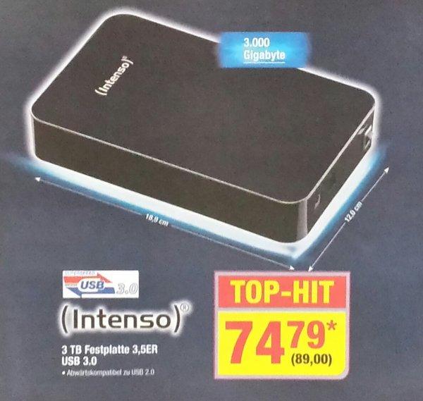 [Metro] Externe 3TB Intenso USB 3.0 für 89,- ab 07.11.
