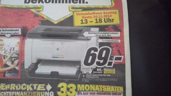 [Lokal MM Bayreuth] - HP Laserjet Pro CP1025