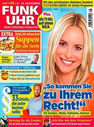 Zeitschrift Funkuhr für ein Jahr abonieren mit einem Gewinn von 2,80 €