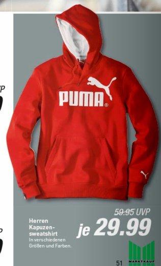 [offline @ Marktkauf] Puma Kapuzensweatshirt / Hoody Logo, versch. Farben