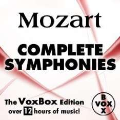 Amazon: MP 3 Album Mozart: Complete Symphonies (The VoxBox Edition) über 12 STD Musik für 1,09 €