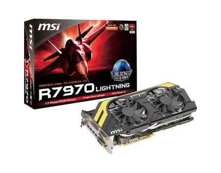 Wieder verfügbar MSI R7970 Lightning B00ST Edition (HD7970 GHz Edition), 3GB GDDR5, 2x DVI, 4x Mini DisplayPort für 236,30€ inkl. Versand & Never Settle Forever GOLD Paket