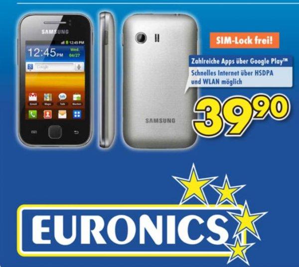 Samsung Galaxy Y (Simlockfrei) für 39.90€ [Euronics Witten]