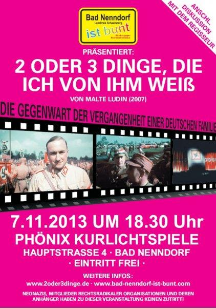 """Kostenlos ins Kino - Lokal in Bad Nenndorf zu """"2 ODER 3 DINGE, DIE ICH VON IHM WEIß"""""""