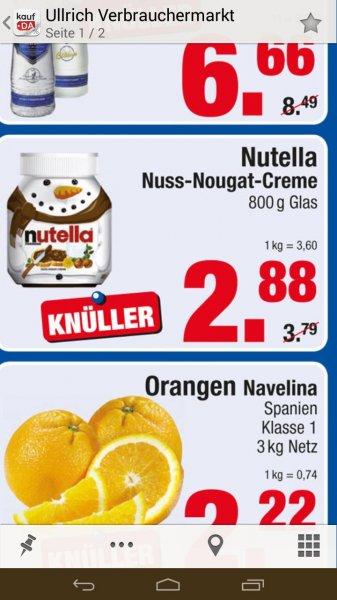 Lokal Berlin, 800 gr. Glas Nutella 2,88 Euro