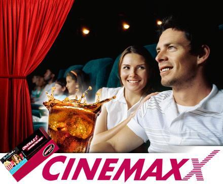 CinemaxX-Ticket und 0,5l Softdrink für 7,50 @Dailydeal