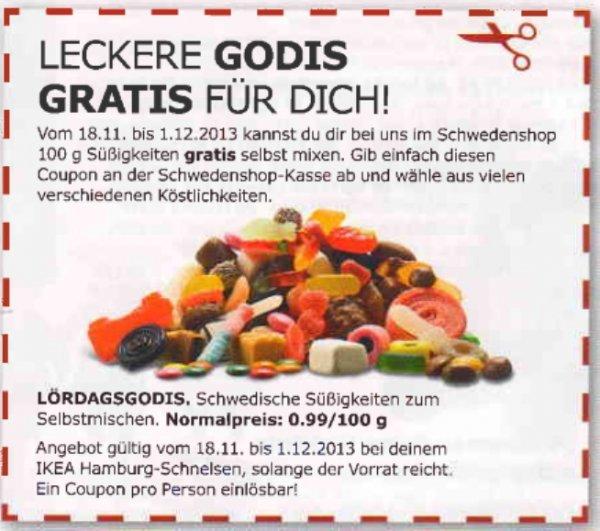 [IKEA Hamburg] 100 g Süßigkeiten gratis