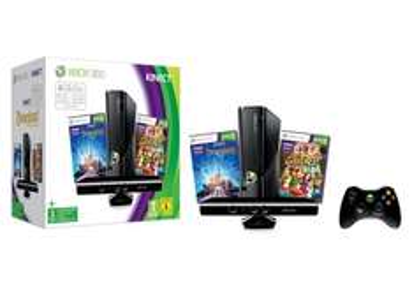 [ LOKAL Saturn Magdeburg ] Microsoft Xbox 360 S 4GB + Kinect Disneyland Adventures + Kinect Adventures