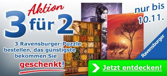 Jedes dritte Ravensburger Puzzle geschenkt (33% Rabatt)