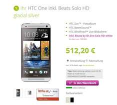 HTC One inkl. GRATIS Beats by Dr. Dre Solo HD