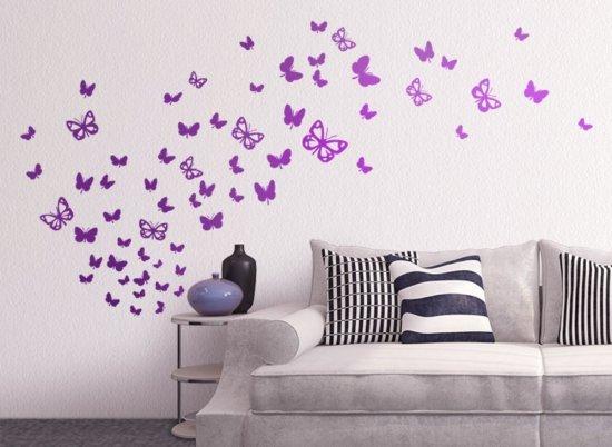 Wandtattoo 64 Schmetterlinge Versand kostenlos