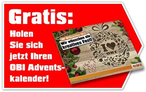 Gratis Obi Schokoladen-Adventskalender