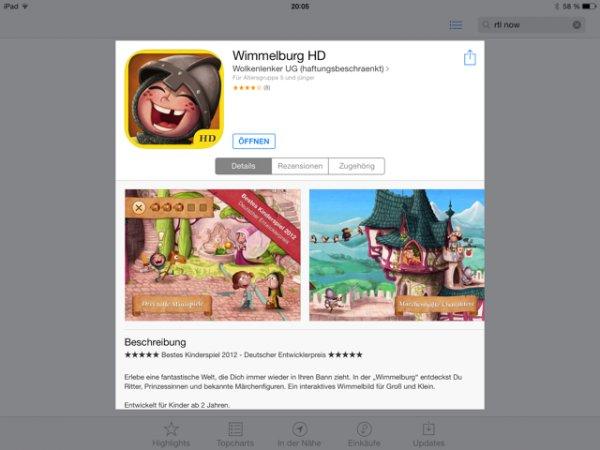 [iOS AppStore] Wimmelburg HD kostenlos