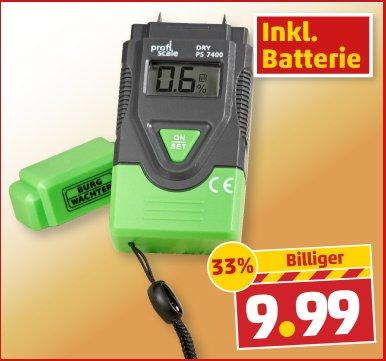[ab 14.11 bei Penny] BURG WÄCHTER Feuchtigkeits-Messgerät DRY PS 7400 9,99€