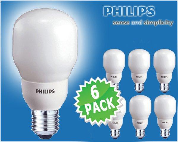 6 Stück Philips Sparlampen