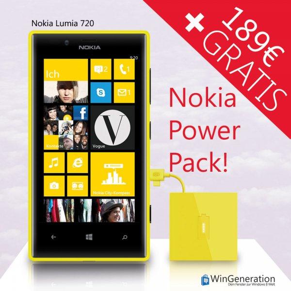 Nokia Lumia 720 zum Bestprice plus gratis Akkupack!