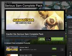 STEAM Serious Sam Complete Pack 12,74€