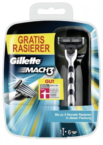 GILLETTE MACH3 Klingen 6er Pack + MACH3 Rasierer für 10€ @ Saturn.de