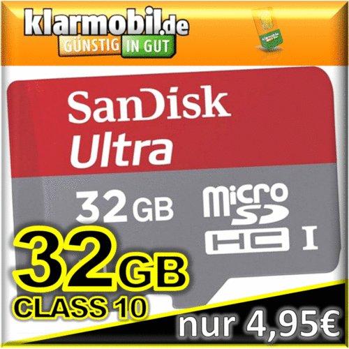 Klarmobil + 32GB SanDisk Mobile Ultra micro SD SDHC