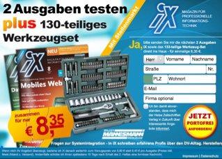 Mannesmann 130-tlg Werkzeugset + 2 Ausgaben IX für 8,35 €