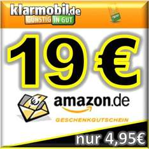 Klarmobile SIM Karte inkl. 15€ SGH + 19€ Amazon Gutschein