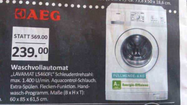 [LOKAL KR, DU, MH] AEG L5460FL Waschmaschine (A++ / 1400 UpM / 6 kg)  für 239€ @ EDEKA Center Czaikowski