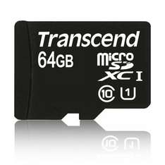 Transcend MicroSDXC 64GB Premium Class 10 UHS-I 45MB/s inkl. SD-Adapter [Amazon]