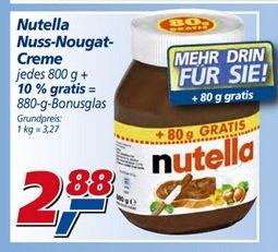 [Lokal NRW evtl bundesweit?] 880g Glas Nutella bei real für 2,88€