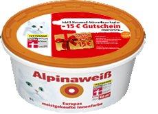 [toom] 2x Alpinaweiß 10L + 15 EUR Gutschein